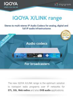 IQOYA X/LINK Range - Audio Over IP codecs for broadcasters   Audio
